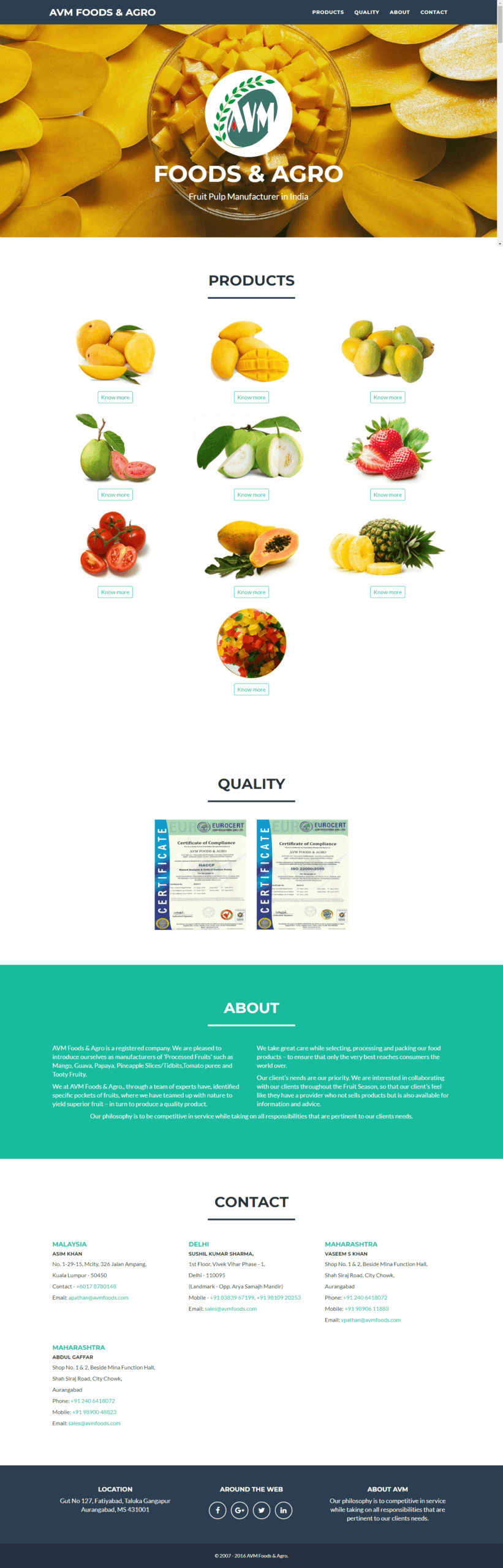 AVM FOODS & AGRO